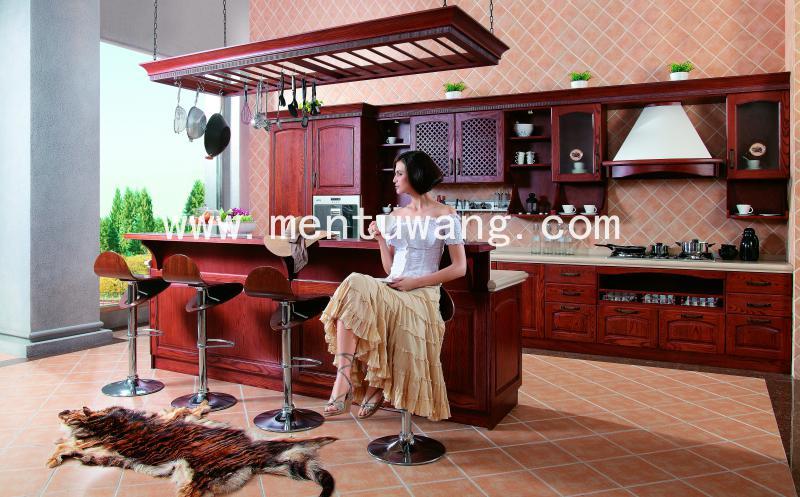 厨房-287 实木 全屋定制 实木整装 别墅装修 美式 厨房橱柜