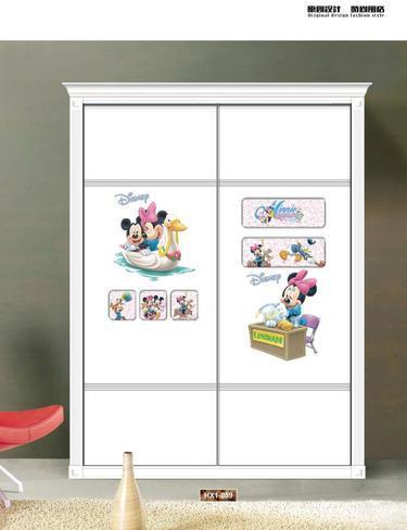 儿童房18-1 CC-4043, 迪士尼,米老鼠 ,米菲, 米奇, 卡通 ,鸭子,气球 ,木